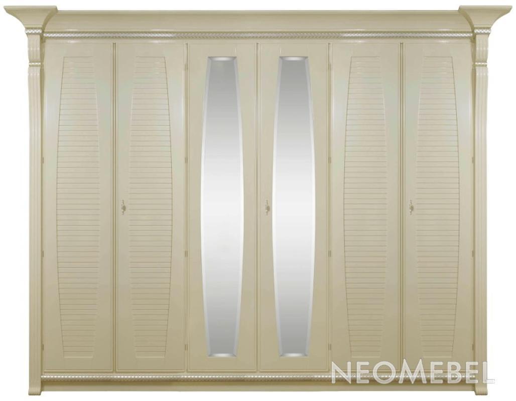 Гардеробный шкаф шестистворчатый , arca - night collection 2.
